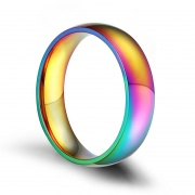 Rainbow Stainless Steel Promise Ring for Lesbian and Gay
