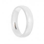 White Ceramic Rings High Polished Classic Design-1