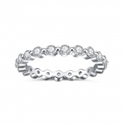 Eternity Wedding Band in 925 Sterling Silver