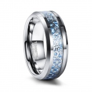 Silver Galaxy Tungsten Ring