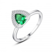 Emerald Green Engagement Rings Teardrop Rings