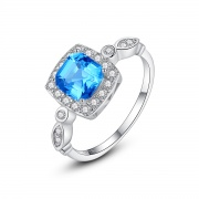 Blue Stones Engagement Rings Vintage Anniversary Rings