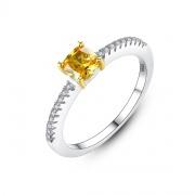 Yellow Gemstone Wedding Rings Vintage Wedding Bands