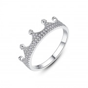 Cubic Zirconia Engagement Rings Crown Shape for Girls