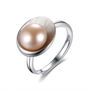 Pink Pearl Ring Cameo Shell Shape