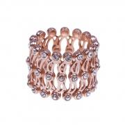Folding Retractable Ring Bracelet 925 Sterling Silver Ring