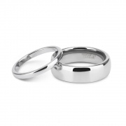 Silver Couple Rings His & Hers Matching Wedding Bands