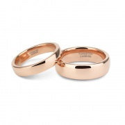 Rose Gold Personalized Couple Promise Rings