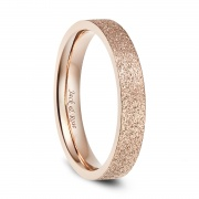 Women's Stainless Steel Rings Rose Gold Flat Simple Style 4mm