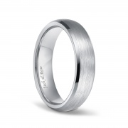 Unisex Titanium Wedding Rings with Brushed Beveled 6mm 8mm