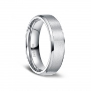 Brushed Matte Finish Titanium Wedding Engagement Rings for Men Women 6mm