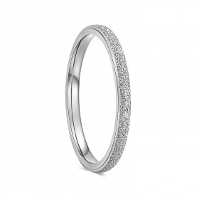 Silver Tungsten Wedding Bands White Gold Plated 2mm
