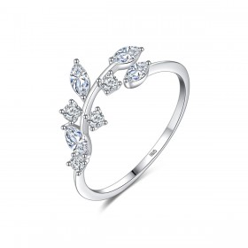Cz Engagement Rings Vine Leaves Design Creative Style