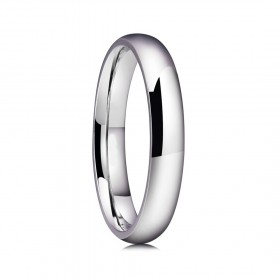 Classic Silver Stainless/Titanium Steel Rings High Polished