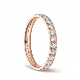 Titanium Engagement Rings for Women with Cubic Zirconia 3mm Eternity Ring