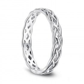 Eternity Knot Wedding Band 925 Sterling Silver Rings for her 4mm