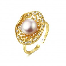 Pearl Engagement Rings Gold Adjustable Engagement Rings