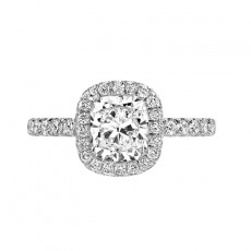 Cushion Cut Engagement Rings Sona Ring 2 Carat