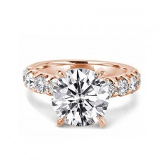 Rose Gold Wedding Rings 3 Carat Sona Diamond Ring in Sterling Silver