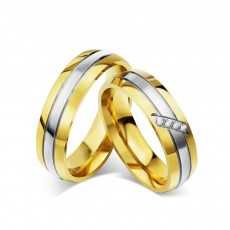 High Polished Titanium/Stainless Steel Cheap Promise Rings for him and her
