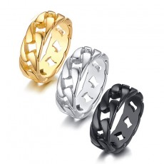 Stainless Steel Biker Rings Chain Style for him