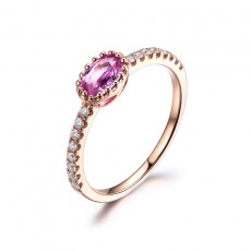 Amethyst Wedding Bands for her Oval Cut Sterling Silver Rings