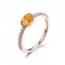 Citrine Wedding Bands for her Oval Cut Sterling Silver Rings