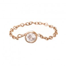 Rose Gold Stainless/Titanium Steel Chain Rings Tail Ring for Girl