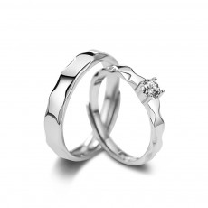 Simple Promise Rings for Couples in Sterling Silver