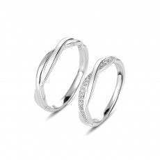 Cheap Infinity Rings for Couple in Sterling Silver