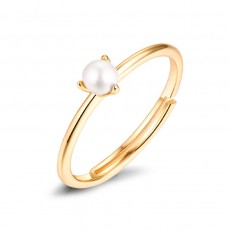 Natural Pearl Engagement Rings Stackable