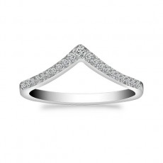 925 Sterling Silver Rings with Cz V Shaped