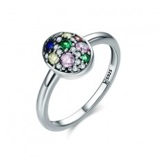 Easter Egg Sterling Silver Rings with Colorful CZ