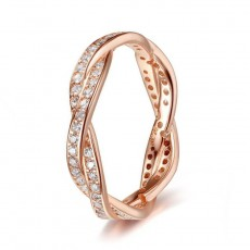 Rose Gold  Sterling Silver Fashion Rings Twisted
