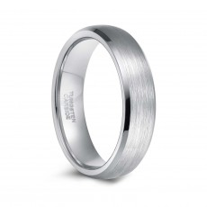 Mens Womens Grey Tungsten Wedding Bands 6mm 8mm