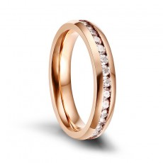 Rose Gold Women's Stainless Steel Wedding Bands 4mm