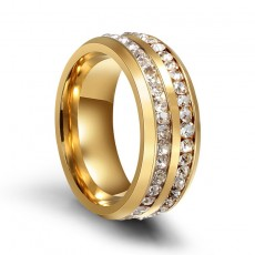 Eternal Stainless Steel Ring for Womens with Cubic Zirconia