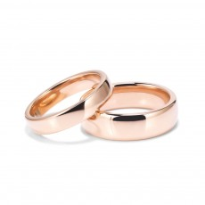 Classic Rose Gold Stainless/Titanium Steel Couple Rings