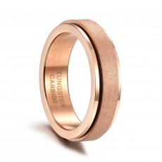 Mens Womens Rose Gold Tungsten Wedding Band Spinner Ring Band