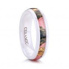 Pink Camo Ceramic Rings