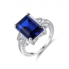 Blue Sapphire Gemstone Engagement Ring for her