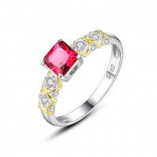 Pink Stone Rings Colored Engagement Rings
