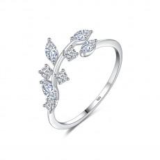 Cz Engagement Rings Vine Leaves Design Creative Style