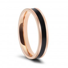 Two Toned Wedding Bands for her in Stainless/Titanium Steel