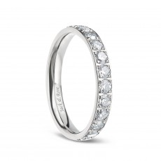 Cubic Zirconia 3mm Titanium Rings for Women