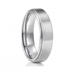 Unisex Titanium Wedding Bands with Stepped Edge
