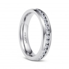Titanium Rings for Women with Cubic Zirconia Inlay 4mm