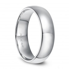 Classical Sterling Silver Wedding Rings Plain High Polished Domed 2mm-6mm