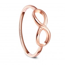 Rose Gold Sterling Silver Engagement Promise Rings Infinity Knot Symbol Ring High Polish