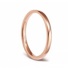 Rose Gold Titanium Engagement Bands Plain Thin Rings 2mm
